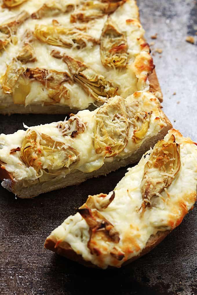 Roasted Garlic Artichoke Bread