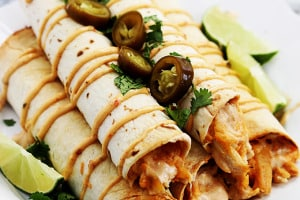 Slow Cooker Creamy Chipotle Chicken Taquitos