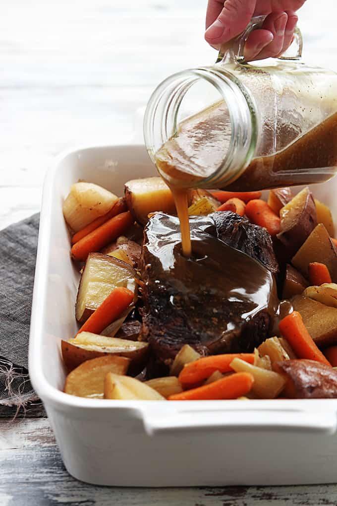 Slow Cooker Beef Roast | Creme De La Crumb