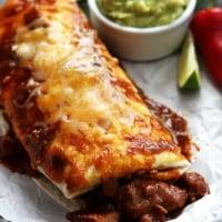 Smothered Chile Colorado Burritos