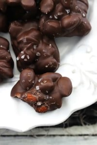 3 Ingredient Chocolate Almond Clusters