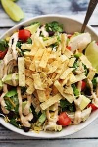 Leftover Turkey Taco Salad