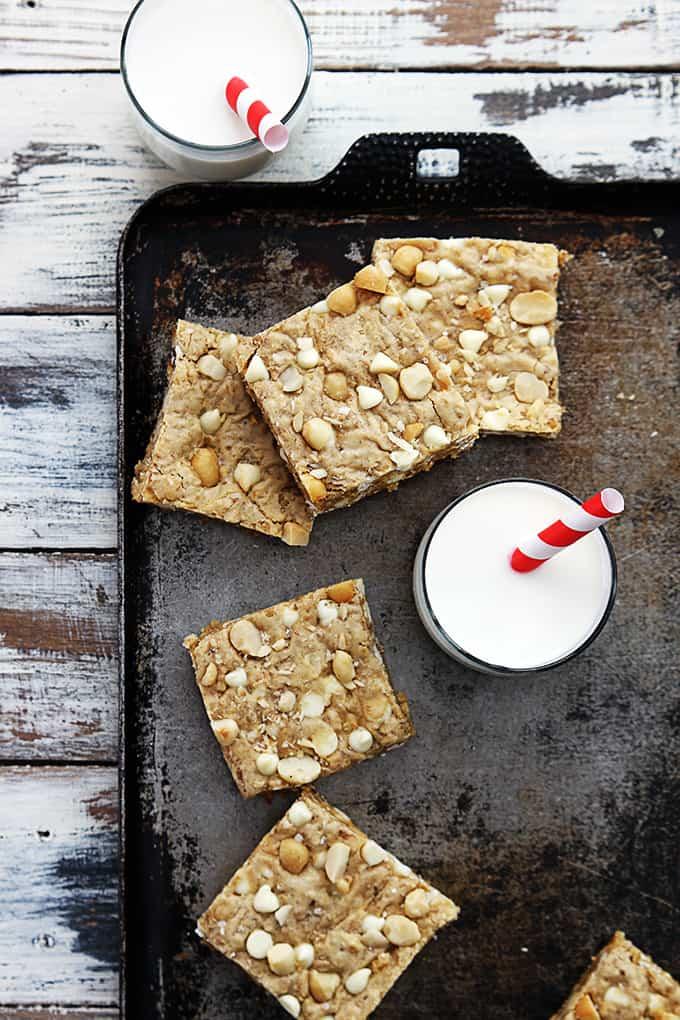White Chocolate Chip Macadamia Nut Blondies