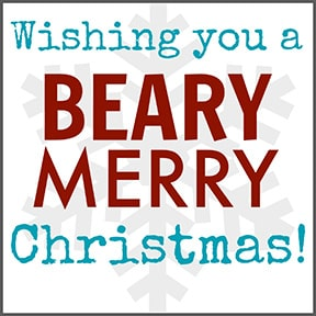 Beary Merry Christmas Printable