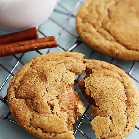 Caramel Stuffed Snickerdoodles