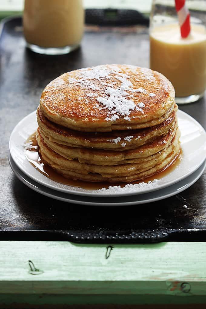Eggnog Pancakes - Creme De La Crumb