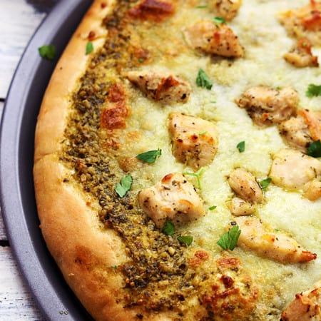Pesto Chicken Pizza