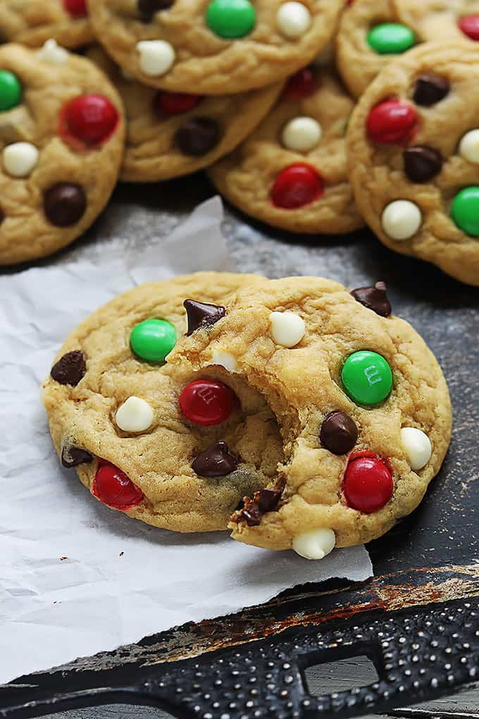 Santa's Cookies (Double Chocolate Chip M&M Cookies)