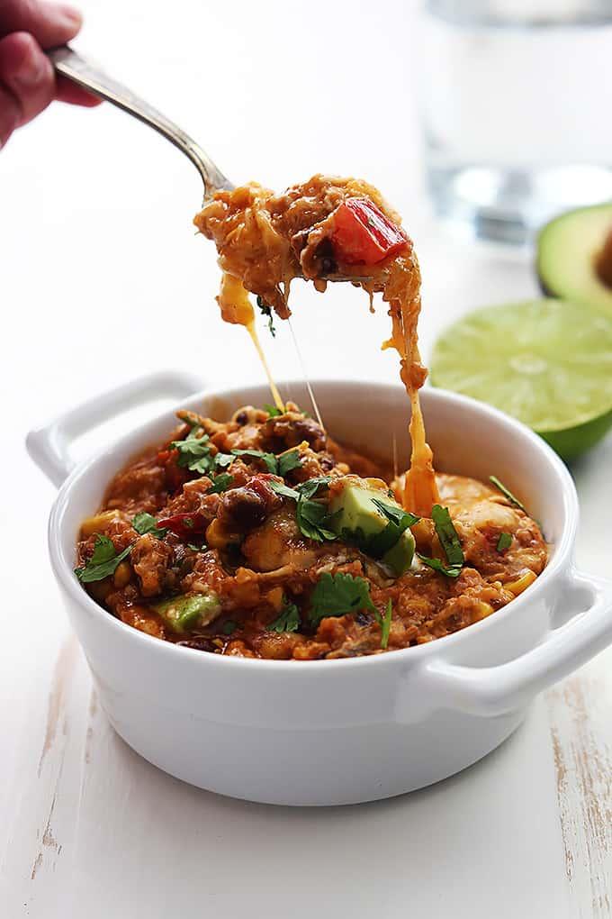 Slow Cooker Enchilada Quinoa Casserole - cheesy, dreamy and delicious!