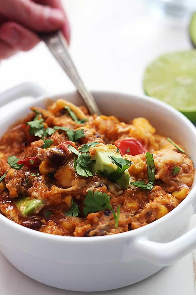 Slow Cooker Enchilada Quinoa Creme De La Crumb