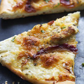 Bacon Chicken Ranch Pizza   Creme de la Crumb
