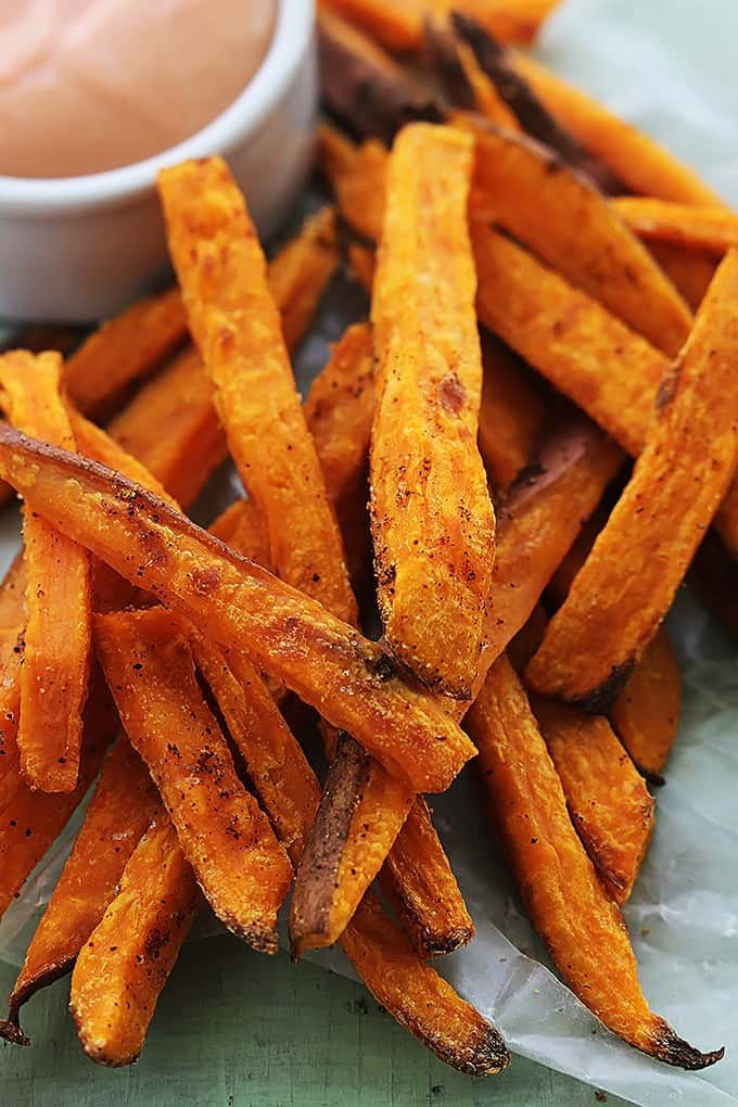 Baked Sweet Potato Fries - Creme De La Crumb