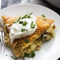 5 Ingredient Chicken Verde Tortilla Pie   Creme de la Crumb