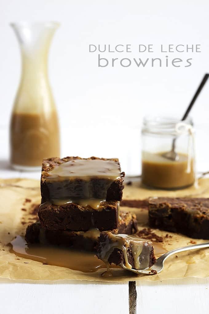 Dulce De Leche Brownie Recipe — Dishmaps