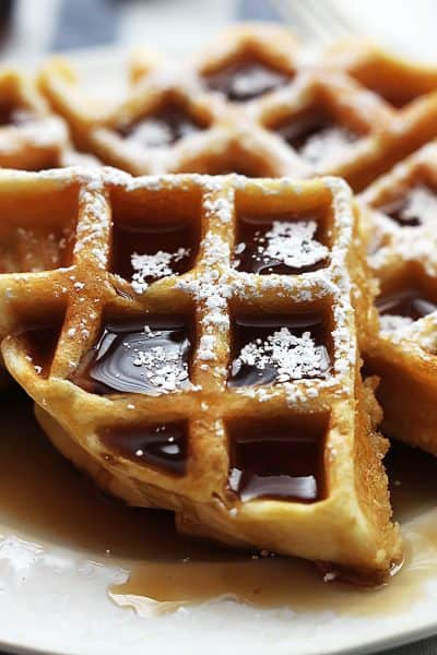 Cinnamon Sugar Biscuit Waffles 4 Ingredients Creme De