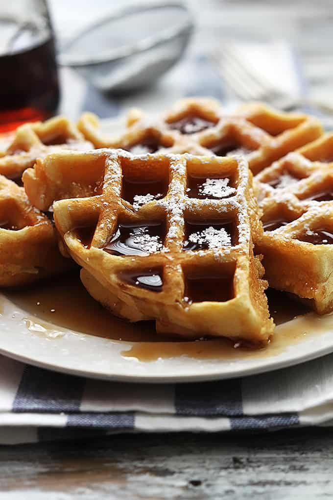 4 Ingredient Dutch Cream Waffles Creme De La Crumb