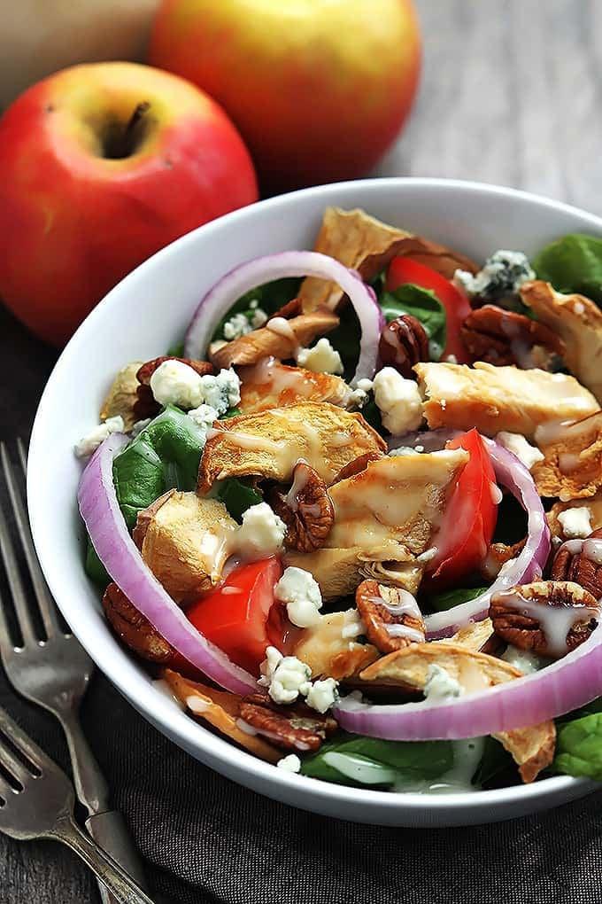 Fuji Apple Chicken Salad (Panera Bread Copycat) | Creme De La Crumb