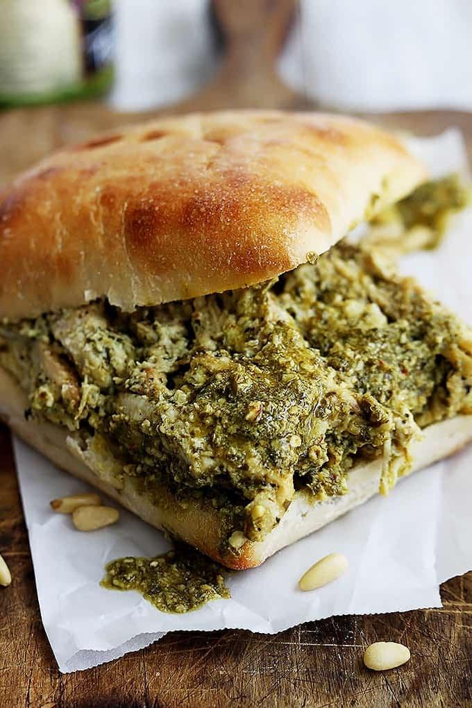 Pesto Chicken Sandwiches - Creme De La Crumb