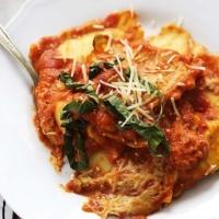 Roasted Red Pepper Ravioli | Creme de la Crumb