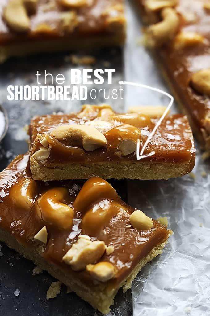 Pine Nut, Caramel & Sea Salt Shortbread Bars Recipes — Dishmaps