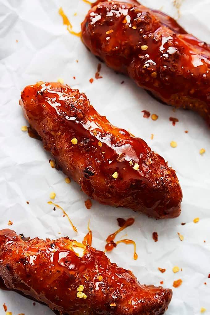 Baked Firecracker Chicken Tenders | Creme de la Crumb