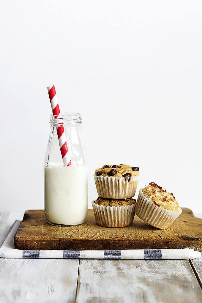 Flourless Banana Blender Muffins | Creme de la Crumb