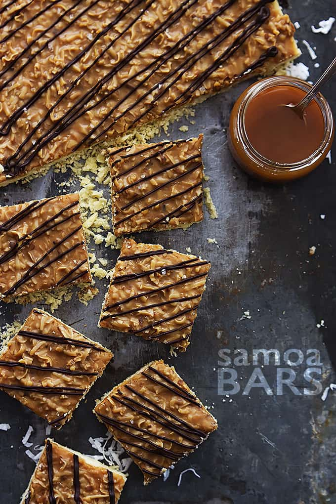 Samoa Bars | Creme de la Crumb