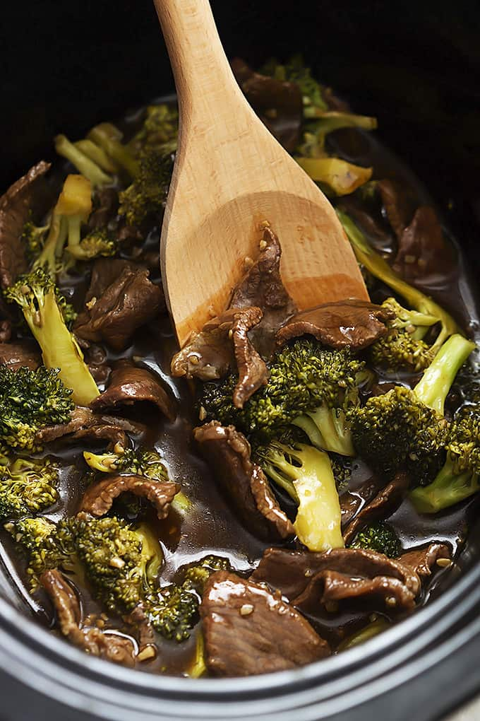 Slow Cooker Broccoli Beef Creme De La Crumb