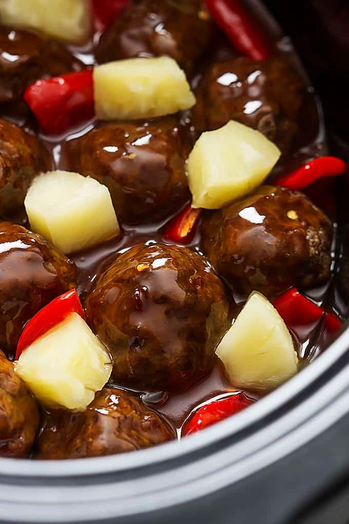 recipe: sweet and sour meatballs with pineapple and tomato sauce [34]