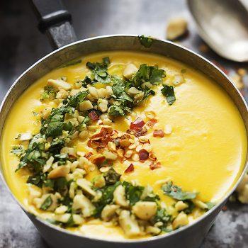 Slow Cooker Thai Butternut Squash Soup | lecremedelacrumb.com