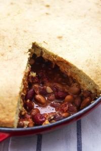 Chili Cornbread Skillet Pie   Creme de la Crumb