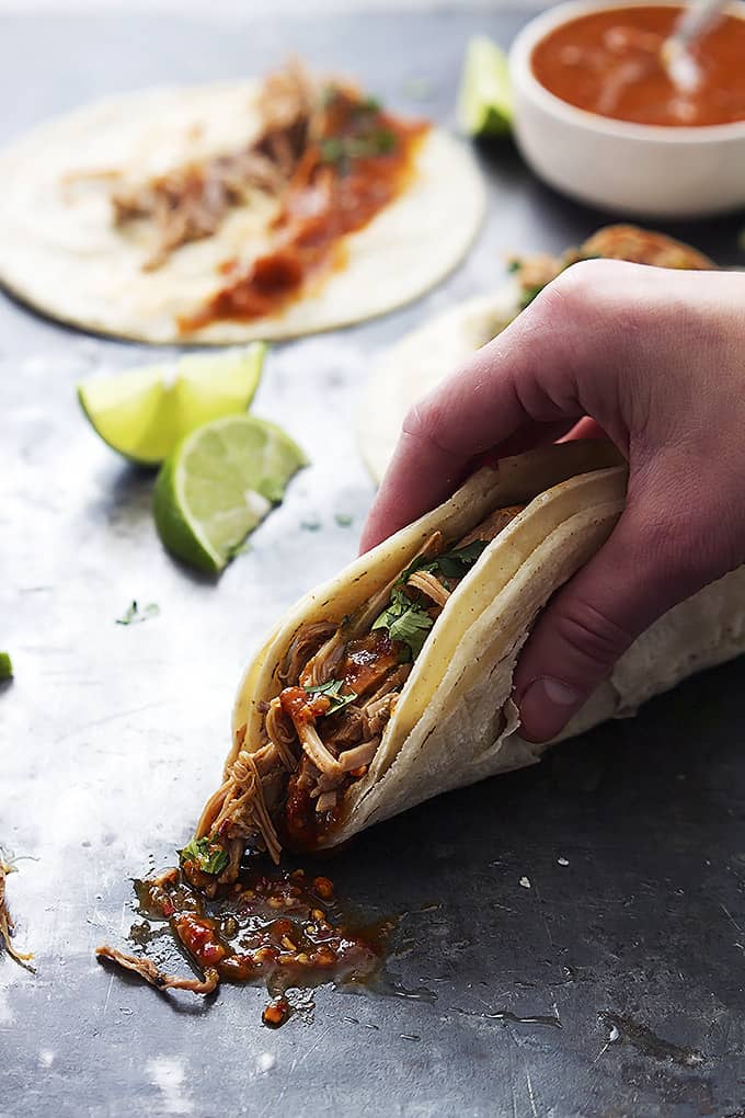 Slow Cooker Pork Carnitas | Creme de la Crumb