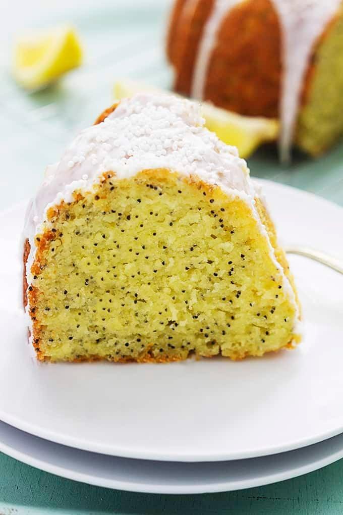 Lemon Poppy Seed Bundt Cake With Lemon Pudding