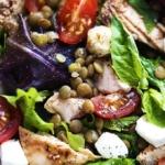 Salmon & Lentil Caprese Salad   Creme de la Crumb