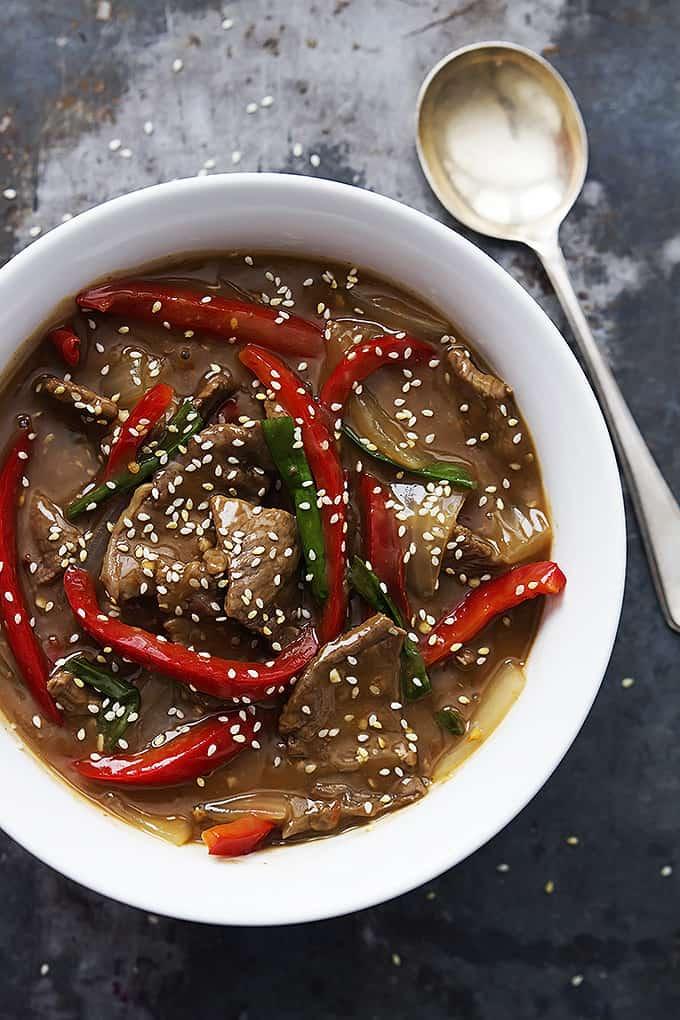 Slow Cooker Sesame Beef recipe | Creme de la Crumb