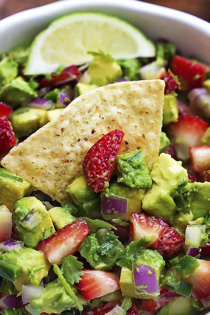 Strawberry Avocado Salsa | Creme de la Crumb