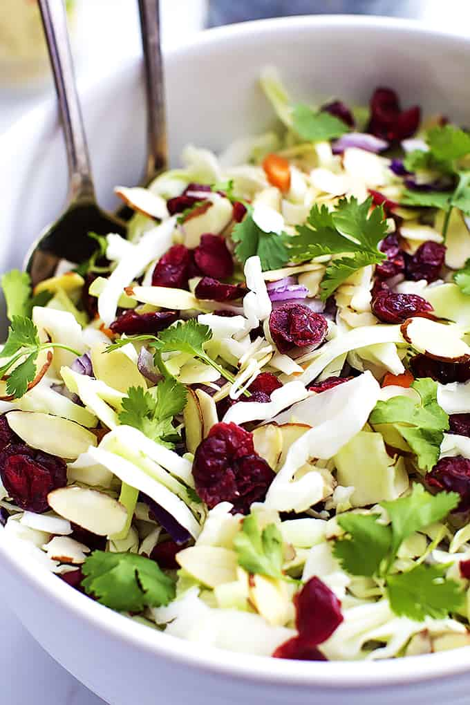 Asian Cranberry Almond Salad + Sesame Dressing