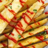 Baked Garlic Sriracha Fries | Creme de la Crumb