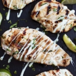Grilled Cilantro Lime Chicken | Creme de la Crumb