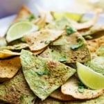 Baked Guacamole Tortilla Chips | Creme de la Crumb