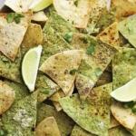 Baked Guacamole Tortilla Chips
