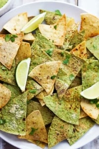 Baked Guacamole Tortilla Chips   Creme de la Crumb