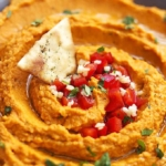 Roasted Red Pepper Hummus | Creme de la Crumb