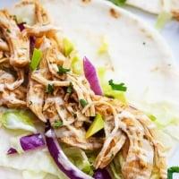 Slow Cooker Ranch Chicken Tacos | Creme de la Crumb