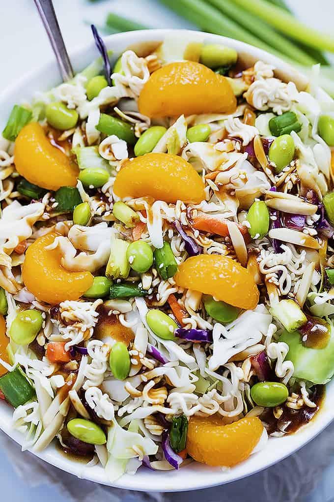 Asian Ramen Noodle Salad | Creme de la Crumb