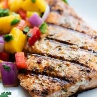 Grilled Salmon with Mango Salsa | Creme de la Crumb