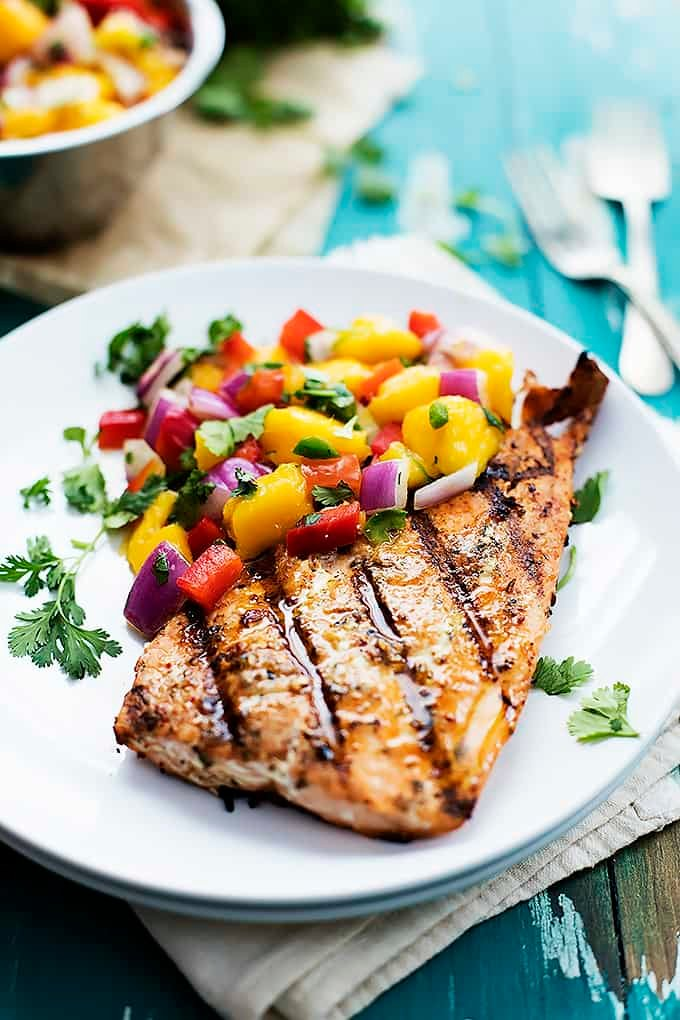 Spicy mango salsa for fish for Mango salsa recipe for fish