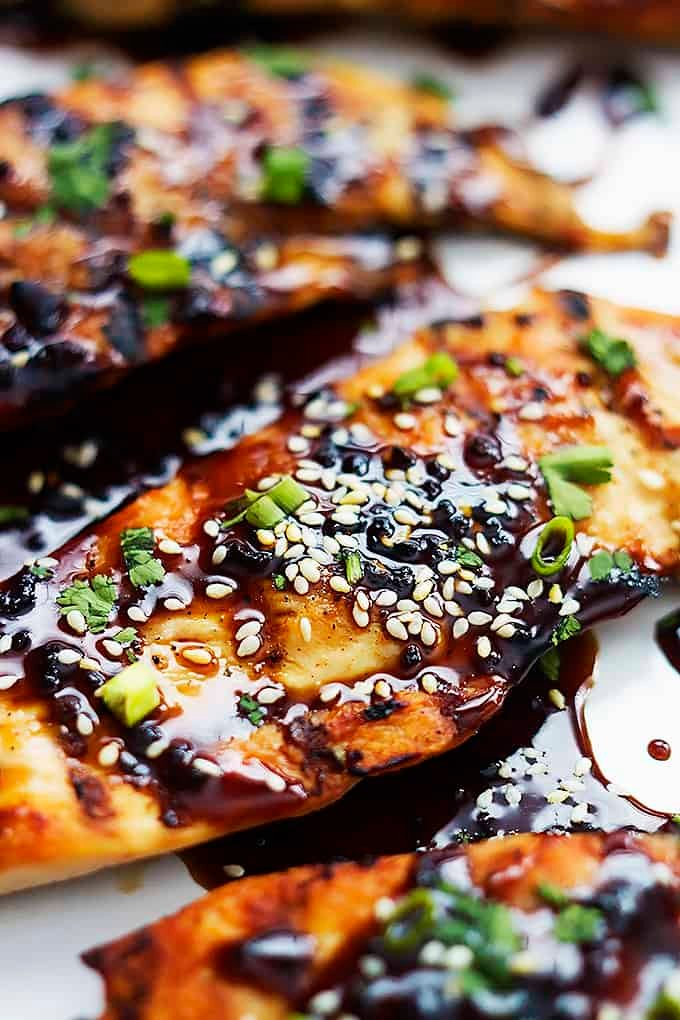 Sticky Asian Grilled Chicken | Creme de la Crumb
