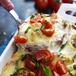 Creamy Chicken Caesar Lasagna | Creme de la Crumb
