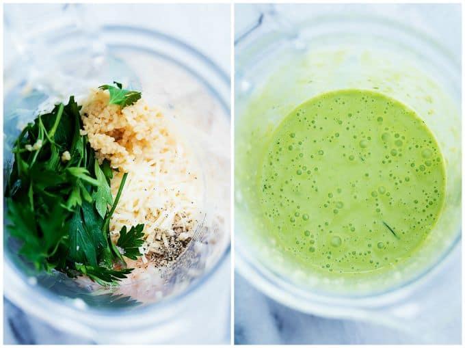 Chicken Penne Salad with Creamy Parmesan Dressing | Creme de la Crumb